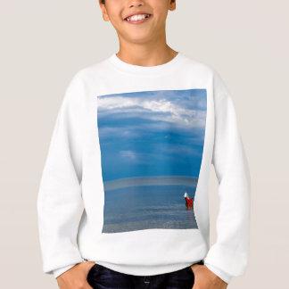 Red fishing boat on the Baltic Sea Sweatshirt