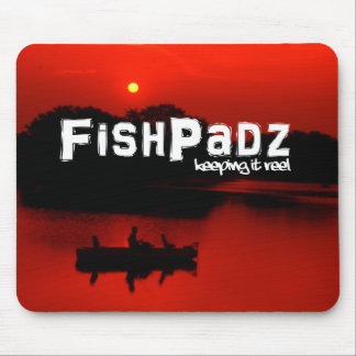 Red Fishing Mouse Pad