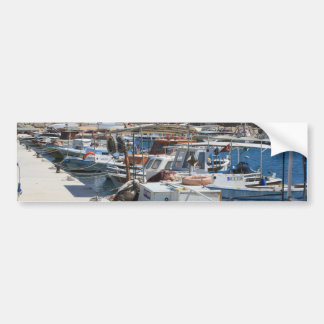 Red Fishing Net and Fishing Boats in Datca Bumper Sticker