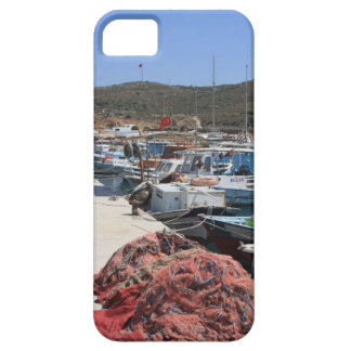 Red Fishing Net and Fishing Boats in Datca iPhone 5 Case