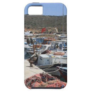 Red Fishing Net and Fishing Boats in Datca iPhone 5 Covers