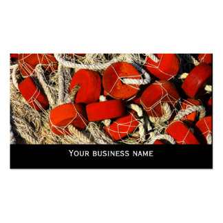 Red fishing nets seafood business  card template Double-Sided standard business cards (Pack of 100)