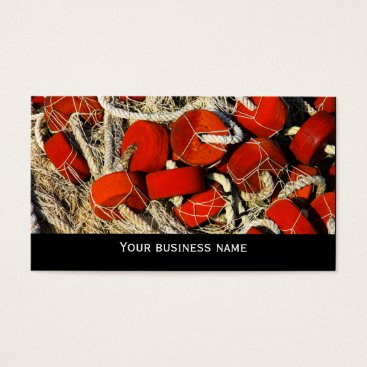 Professional Business Red fishing nets seafood business  card template