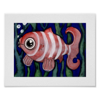 Red Fishy - Animals - 8 x 10 Poster