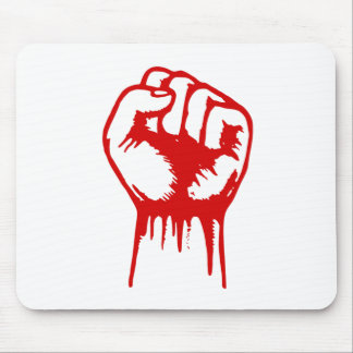 Red Fist Mouse Pads