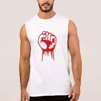 Red Fist Sleeveless Shirt