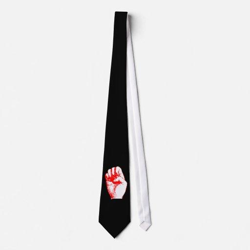 red fist talk fist tie