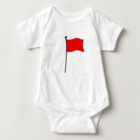 Red Flag: baby bodysuit