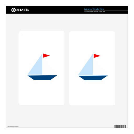 Red Flag Sail Boat Kindle Fire Decals