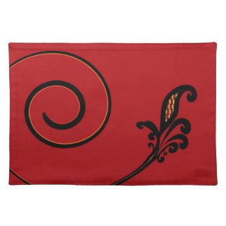Red Flair Placemat Cloth Placemat