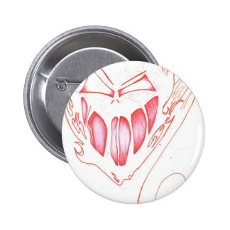 Red Flame Face 2 Inch Round Button