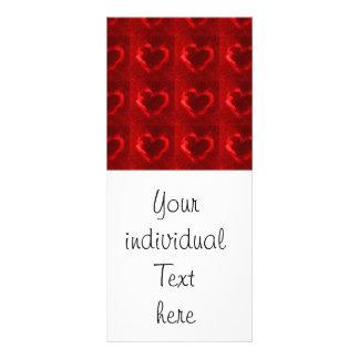 red flame hearts custom rack card