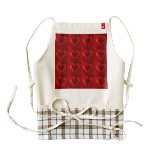 red flame hearts zazzle HEART apron