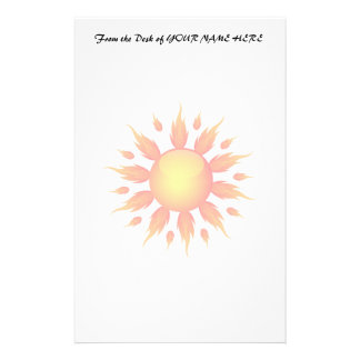 red flame sun ecology graphic.png stationery