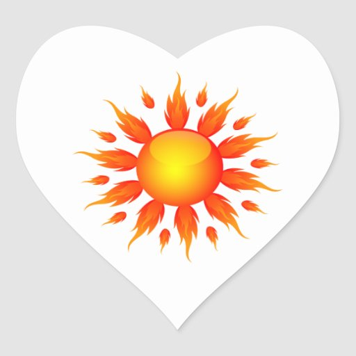red flame sun ecology graphic.png sticker