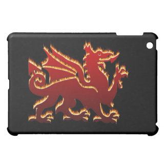 Red flame Welsh Dragon iPad Mini Cover