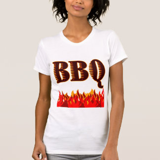 Red Flames BBQ Saying T-shirt