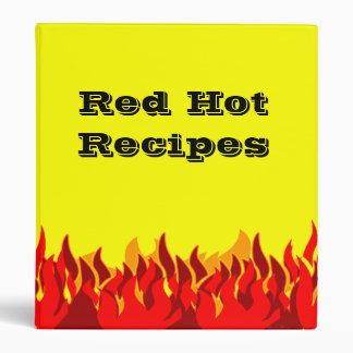Red Flames Custom Recipe Binder