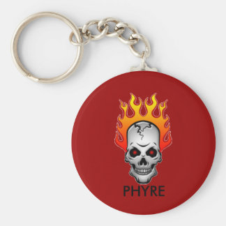 red-flaming-skull PHYRE logo Key Chains