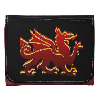 Red flaming Welsh dragon Wallet