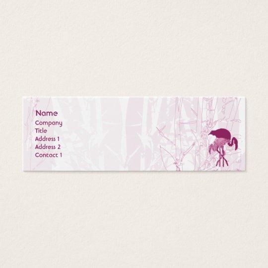 Red Flamingo - Skinny Mini Business Card
