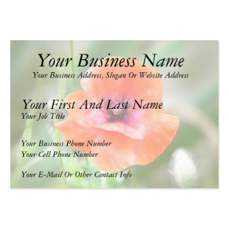 Red Flanders Poppy Business Card Templates