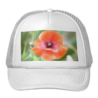 Red Flanders Poppy Trucker Hat