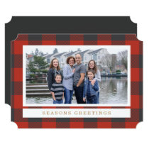 Red Flannel Holiday Photo Card