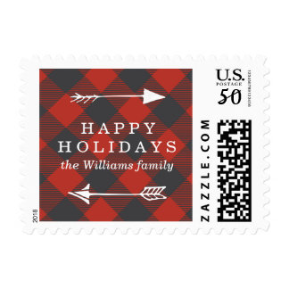Red Flannel Holiday Postage