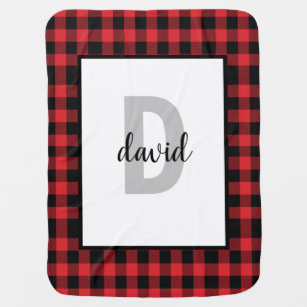 Red Flannel Lumberjack Buffalo Plaid Boy Baby Blanket