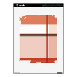Red Flannel Pattern Decals For iPad 3