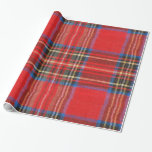 Red Flannel Print Gift Wrap