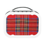Red Flannel Print Lunchbox