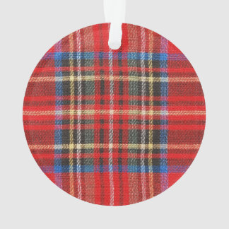 Red Flannel Print Ornament
