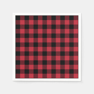 Red Flannel Rustic Paper Napkins