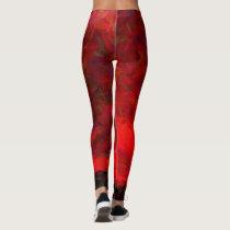 Red flare leggings