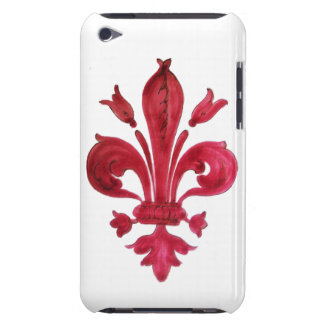 RED FLEUR DE LISE BARELY THERE iPod CASE