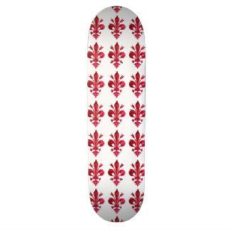 RED FLEUR DE LISE SKATEBOARD DECK