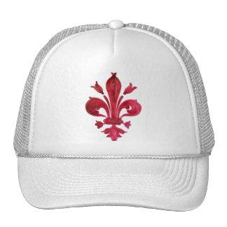 RED FLEUR DE LISE TRUCKER HAT