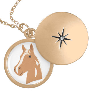 Red Flight the Happy Horse Locket Necklace