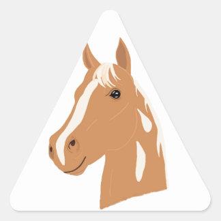 Red Flight the Happy Horse Triangle Sticker