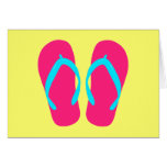 Red Flip-Flop Greeting Cards