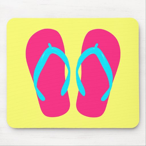 Red Flip-Flop Mouse Pad
