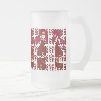 Red Flip Flops Abstract Frosted Glass Beer Mug