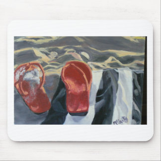 Red Flip Flops Mouse Pads