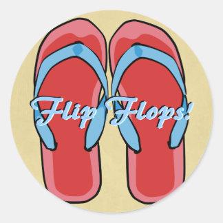 Red Flipflops Sticker