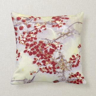 """Red Floaters"" JTG Art Pillow"