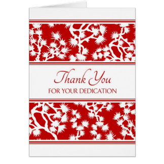 Red Floral Administrative Professionals Day Card