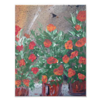 Red Floral Affair Poster