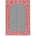 Red Floral Arch Custom Photo Frame Photo Cutout